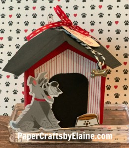 Playful Pets stamp set, How to make a paper dog house, Playful pets projects, fun gifts for new dog owners, In the dog house, greeting cards, cat cards, dog cards, too cute projects, Gift boxes, how to make a gift box,