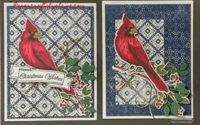 Toile Christmas Cardinal Birds