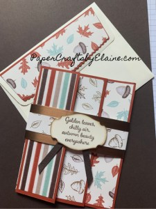 tri fold with belly band, tri fold cards, greeting cards, handmade tri fold cards, fancy fold cards, tutorial on making fancy fold card, tutorial on making a tri fold card,