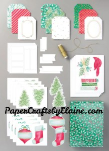 christmas Tag Buffet kit,  30 tag kit, projects for children, tags for the elderly, greeting cards, handmade tags, tag project kits,