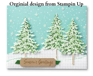 Stampin' Up Gift Certificate, purchase Stampin' Up gift cardsGreeting cards, handmade card, avid stamper design, In the Pine suite, Winter card, Christmas cards, in the pines with snow, Stampin' Up designs
