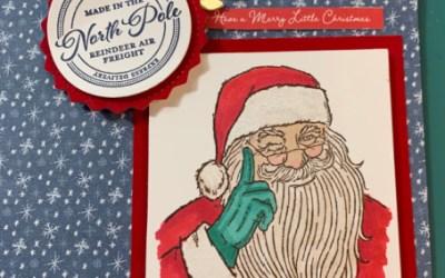 HO HO HO, it's Santa and his Reindeer.