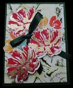 Fine Art Floral, Learn how to do gilding, how to do gilding, card making, handmade card making, Elegant cards, handmade elegant cards, Stampin' Up Gift Certificate, purchase Stampin' Up gift cards