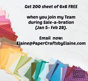 Join our team, Special during SAB, Stampin' Up demonstrator, Join the fun at Paper crafts by elaine.