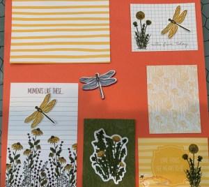 SCRAPBOOK PAGES, SCRAPBOOK LAYOUTS, dragonfly scrapbook alternatives, Dandy Garden Memories and more, Dandy M& cards, ,