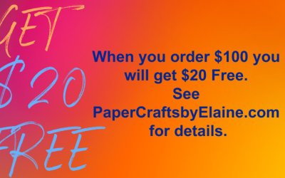 FREE $20 Stampin' Up Product