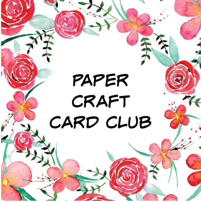 Paper Craft Card Club, New card club starting, online card clubs, in person NC card club, new card club.