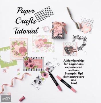 Paper craft Tutorials, paper craft tutorial, membership for paper crafting,