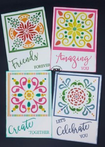 Let's play with ink and Paper, greeting cards, note cards, how to ink with stencils, ink and stencils, Stampin' Up stencils,
