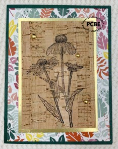 Stamping on Cork can be tricky. Learn more tips and tricks to stamping on cork speciality paper.