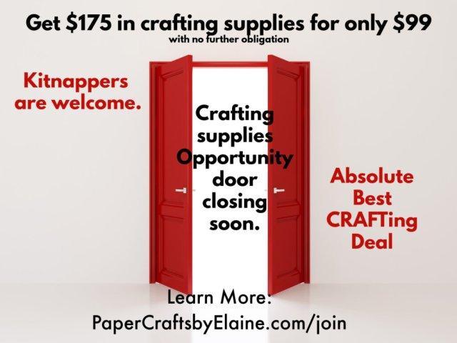 sab recruiting ad, deals on crafting supplies, crafting supplies for less, greeting card supplies, crafting supplies cheap,