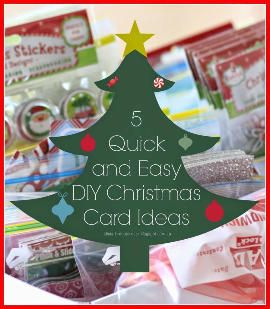 Easy Christmas Cards Designs.5 Quick And Easy Diy Christmas Card Ideas Paper Craft Secrets