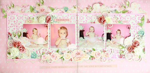 Rose Avenue Double Page Layout Kit ~ By Alicia McNamara