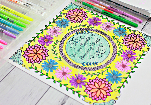 Subscriber Freebie - New Colouring Printable