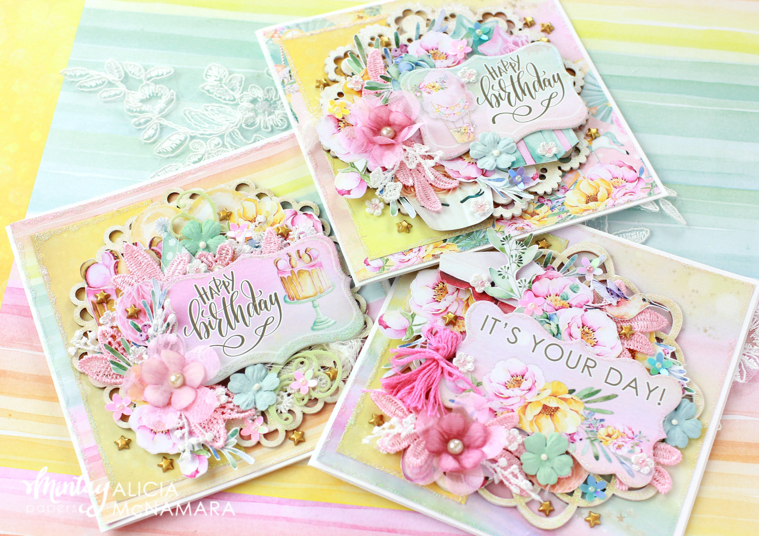 how to make a pretty birthday card  paper craft secrets