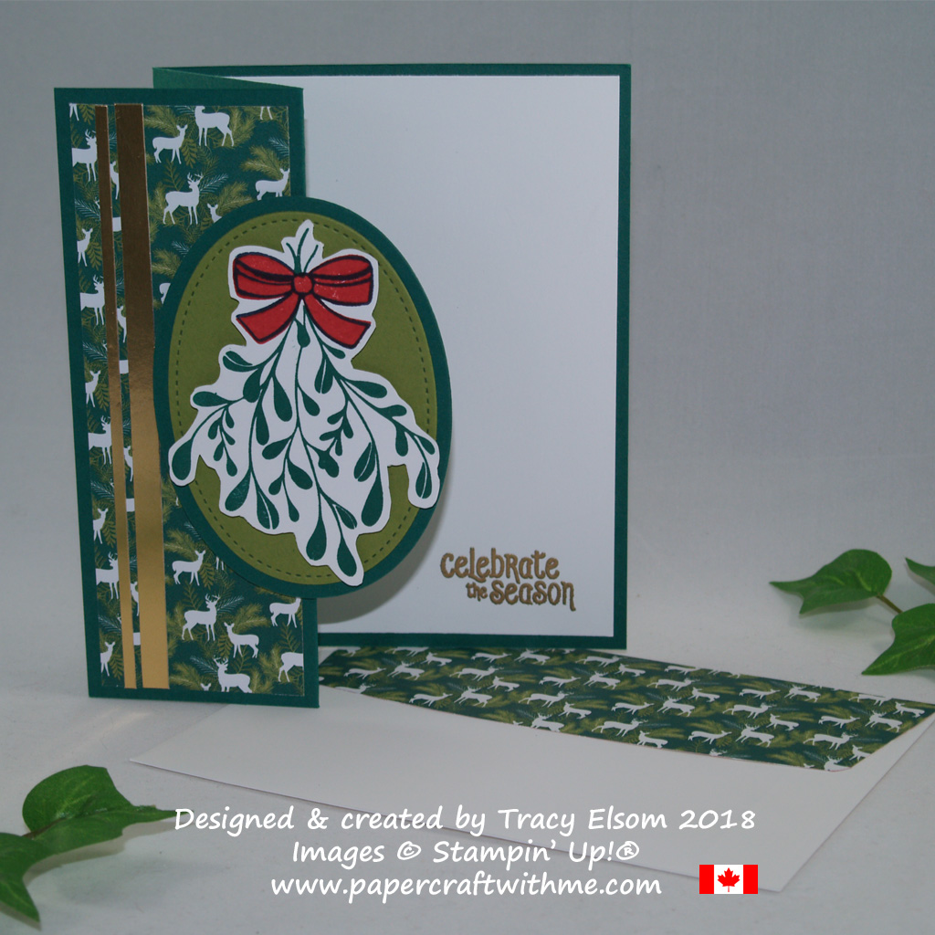 Christmas card created using the Mistletoe Season Stamp Set from Stampin' Up!