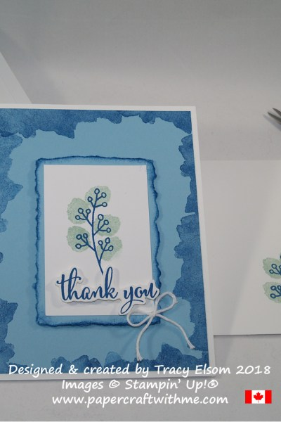 Thank you card created using the Love What You Do Stamp Set from Stampin' Up! www.papercraftwithme.com