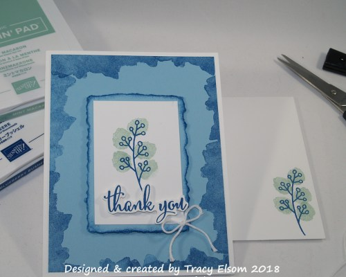 1486 Blue Thank You Card