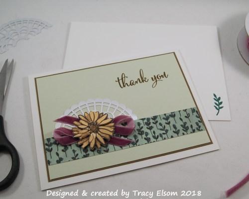 1490 Velvet Thank You Card