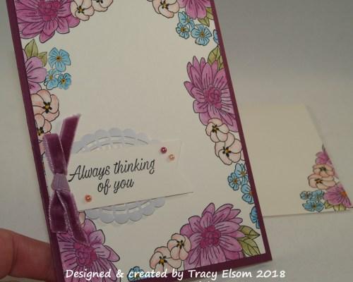 1491 Blooming Border Card