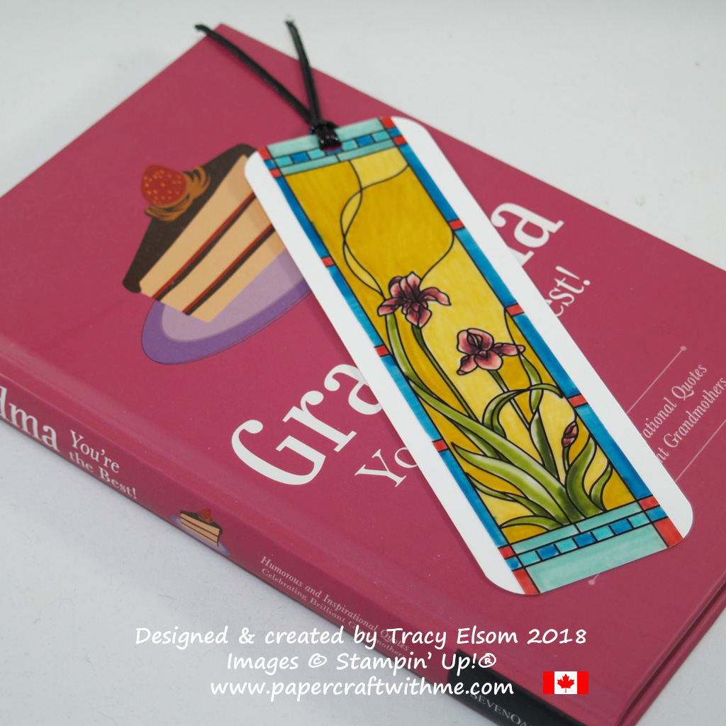 """Bookmark created using a panel from the Graceful Glass 6"""" x 6"""" Designer Vellum and Stampin' Write Markers from Stampin' Up!"""