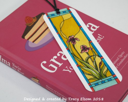 BM166 Stained Glass Iris Bookmark