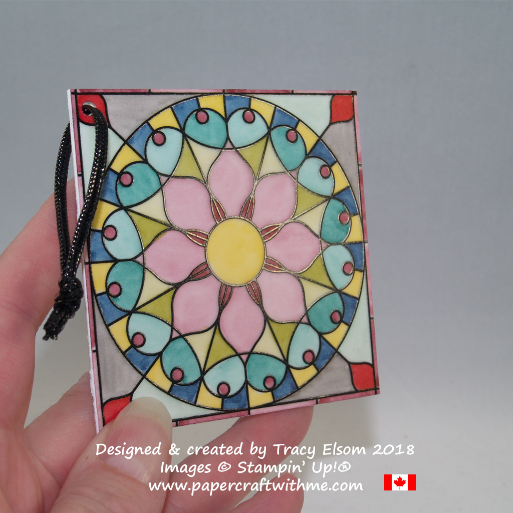 Gift tag created using Graceful Glass Designer Vellum and Stampin' Blends Markers from Stampin' Up!