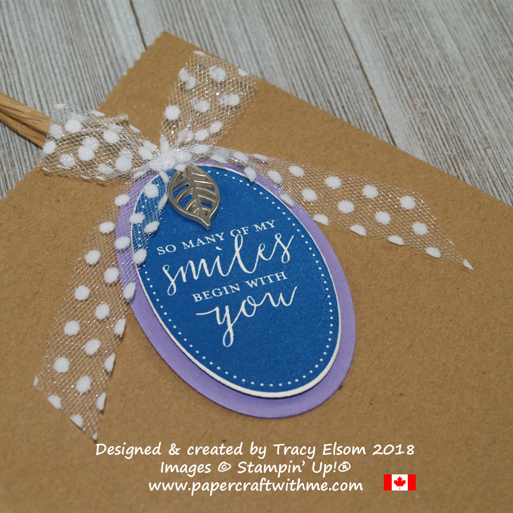 Gift tag created using the Detailed With Love Stamp Set from Stampin' Up!