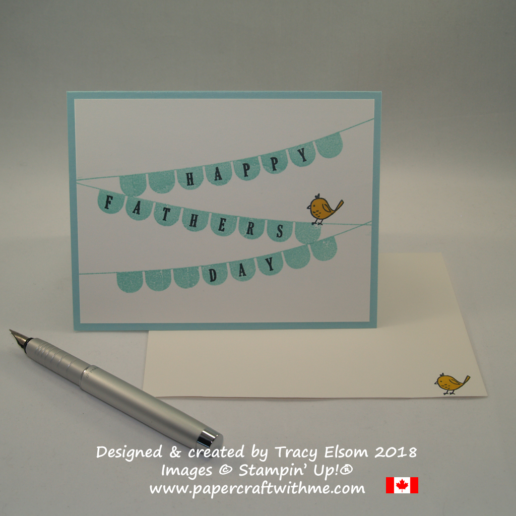 Simple Father's Day card created using the Pick a Pennant Stamp Set from Stampin' Up!