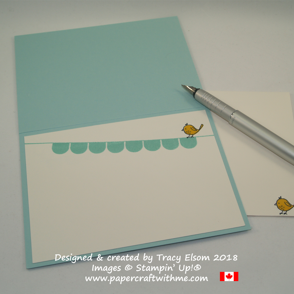 Inside of simple Father's Day card created using the Pick a Pennant Stamp Set from Stampin' Up!