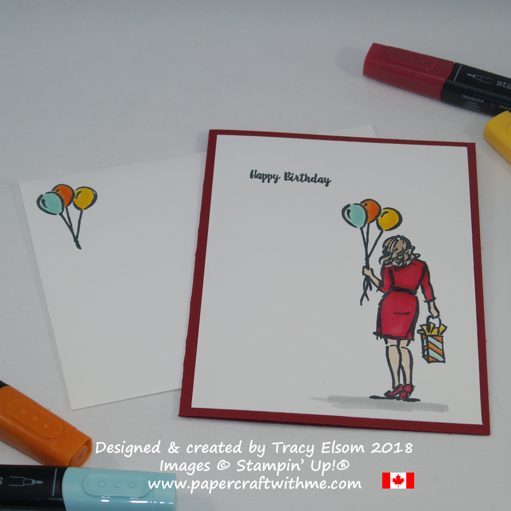 Birthday card created by Tracy Elsom using the Wonderful Moments Stamp Set from Stampin' Up!