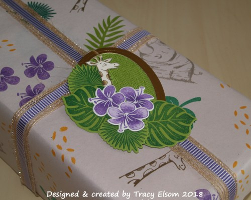 Tropical Animal Gift Wrap & Tag