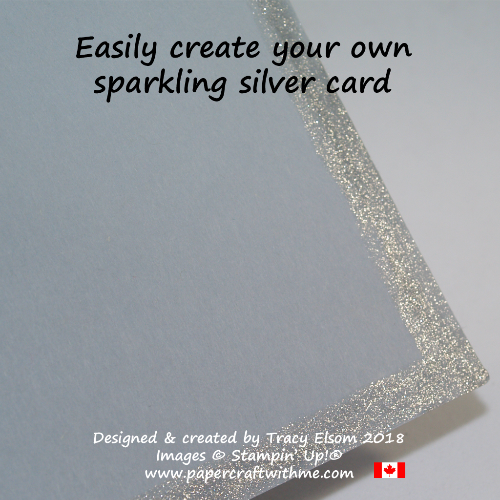 Turn grey card silver with a Clear Wink of Stella Glitter Brush.