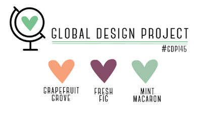 Global Design Project Challenge #GDP145 - Grapefruit Grove, Fresh Fig and Mint Macaron