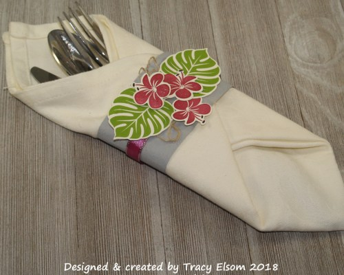 Tropical Silverware Wrap