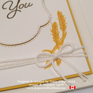 Close up of wheat image from the limited edition Blended Seasons Stamp Set from Stampin' Up!