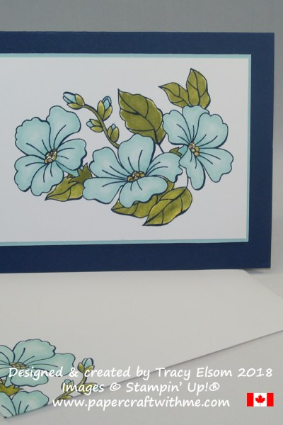 Floral card created using the Blended Seasons Stamp Set and Stampin' Blends alcohol markers from Stampin' Up!