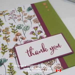 Close up of thank you card created using the Love What You Do Stamp Set from Stampin' Up!