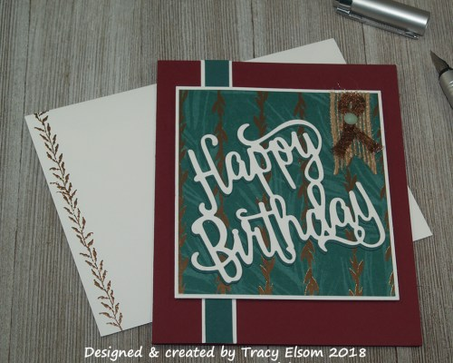 1546 Copper Birthday Card
