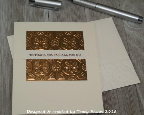 'Tin Tile' Thank You Card