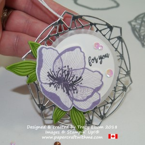 Large fancy floral gift tag created using the Beautiful Promenade Stamp Set and Beautiful Layers Thinlits Dies from Stampin' Up!