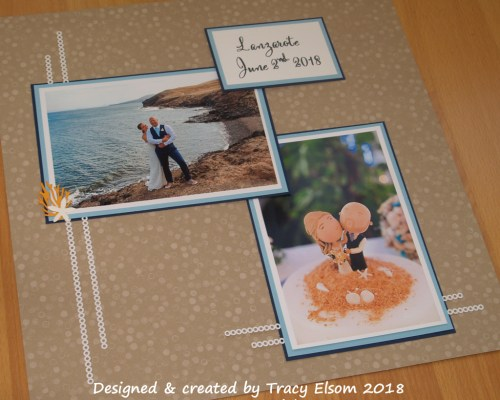 Beach wedding scrapbook page