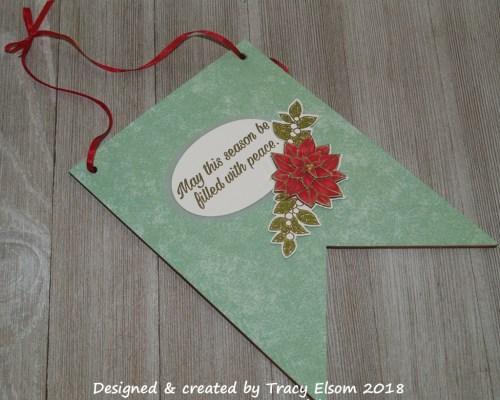 FP16 Christmas Poinsettia Flag Decoration