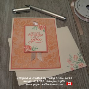 Feminine card with images and best things in life sentiment from the Very Vintage Stamp Set from Stampin' Up!