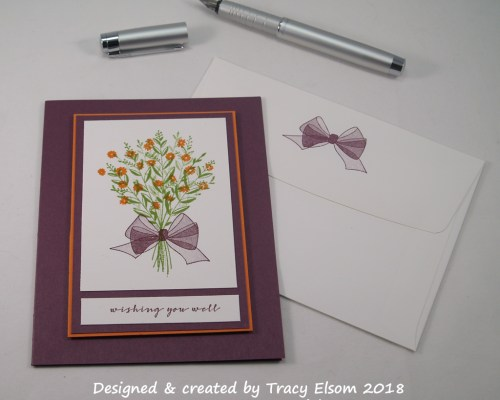1594 Get Well Floral Bouquet Card