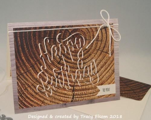 1597 Tree Rings Birthday Card