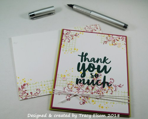 1598 Collage-style Thank You Card