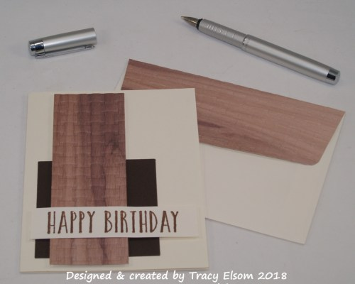 1604 Wooden Basket Weave Birthday
