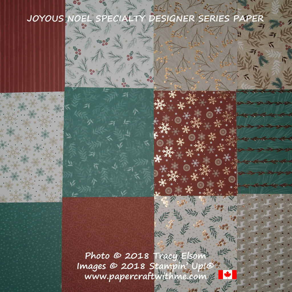 Joyous Noel Specialty Designer Series Paper with copper foil accents from Stampin' Up!