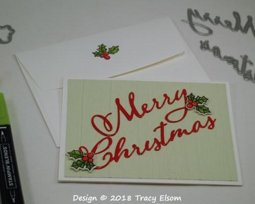 1606 Faux Enamel Merry Christmas Card